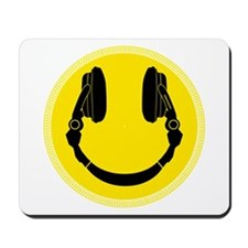 Headphone Smiley Face Mousepad