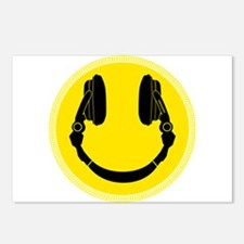 Headphone Smiley Face Postcards (Package of 8)