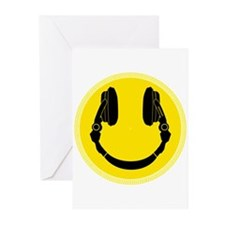 Headphone Smiley Face Greeting Cards (Pk of 20)