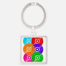 Colored Vinyl Square Keychain