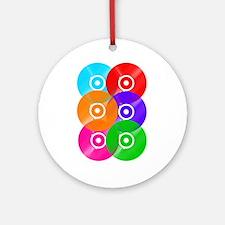 Colored Vinyl Ornament (Round)