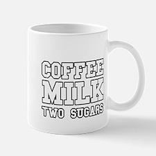 Coffee Milk Two Sugars Mug