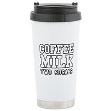 Coffee Milk Two Sugars Travel Mug