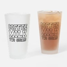 Coffee Milk Two Sugars Drinking Glass