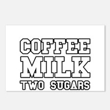 Coffee Milk Two Sugars Postcards (Package of 8)