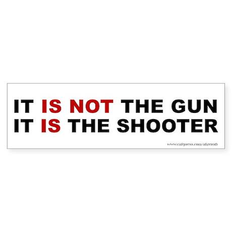 Gun vs Shooter, Sticker (Bumper)