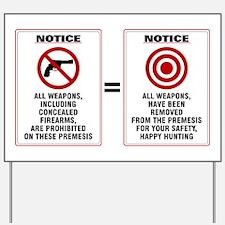 Gun Free Zone Hunting Ground, Yard Sign