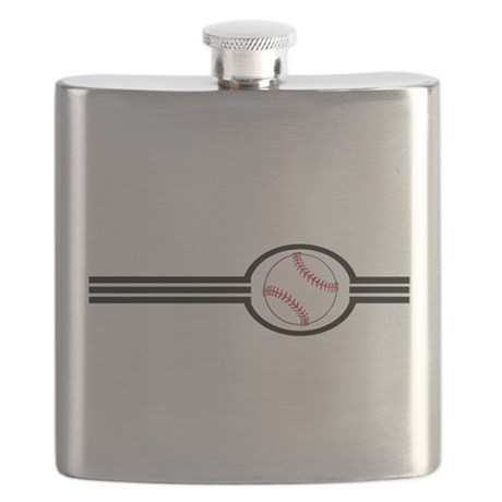 Baseball Stripes Flask