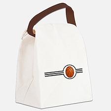 Basketball Stripes Canvas Lunch Bag