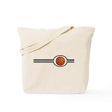 Basketball Stripes Tote Bag