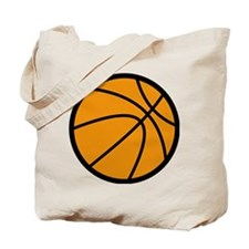 Orange Basketball Tote Bag