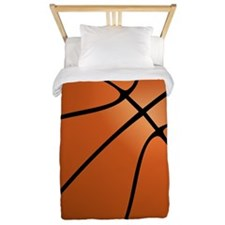 Orange Basketball Twin Duvet