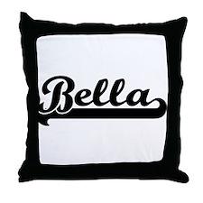 Black jersey: Bella Throw Pillow