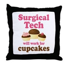 Surgical Tech Funny Throw Pillow
