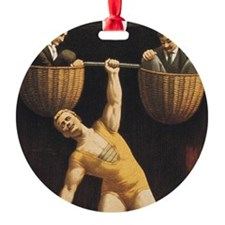 TOP Weightlifting Old School Ornament