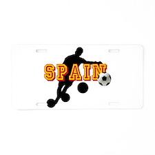 Spanish Football Player Aluminum License Plate