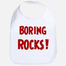 Boring Rocks Bib