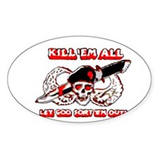 Kill 'em all Rectangle Decal