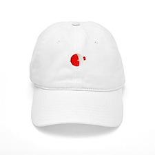 Red n White bobber Baseball Cap