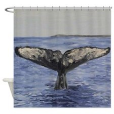 whale 7.JPG Shower Curtain