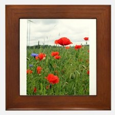 Field of Poppies Framed Tile