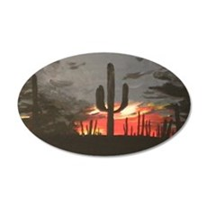 Desert Sunset 22x14 Oval Wall Peel