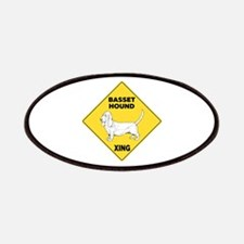 Basset Hound Crossing Sign Patches
