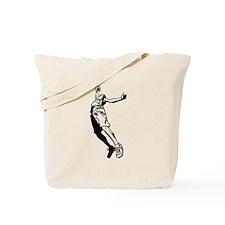 Tall Basketball Player Tote Bag