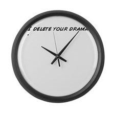 Funny Delete Large Wall Clock