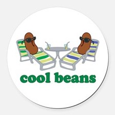 Cool Beans Round Car Magnet