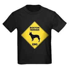 Boston Terrier Crossing Sign T