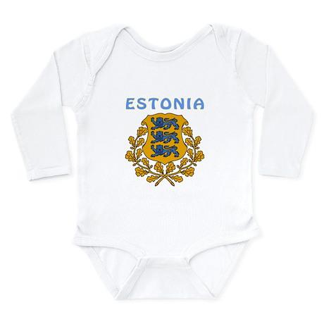 Estonia Coat of arms Long Sleeve Infant Bodysuit