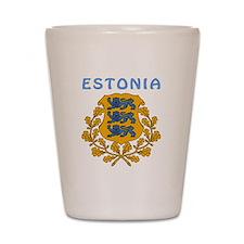 Estonia Coat of arms Shot Glass