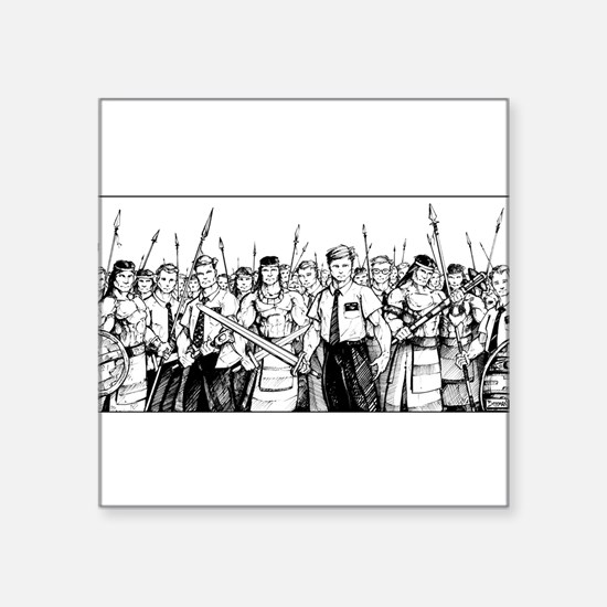 "Stripling Warriors Square Sticker 3"" x 3"""