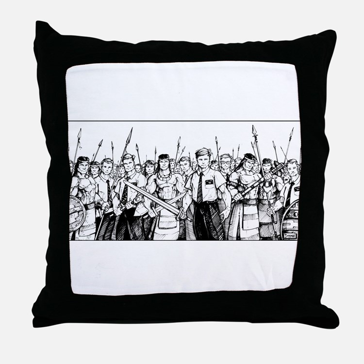 Stripling Warriors Throw Pillow