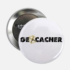"Geocacher with compass as O 2.25"" Button"