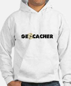 Geocacher with compass as O Hoodie