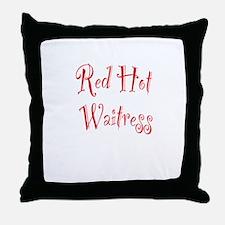 Red Hot Waitress Throw Pillow