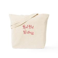 Red Hot Waitress Tote Bag