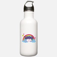 100th Day Of School Sun Water Bottle