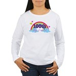 100th Day Of School Rainbow Women's Long Sleeve T-