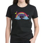 100th Day Of School Rainbow Women's Dark T-Shirt
