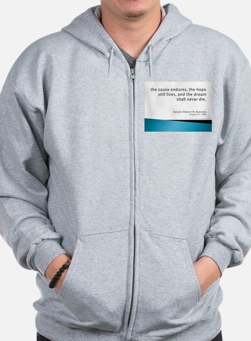 Zip Hoodie with Kennedy quote