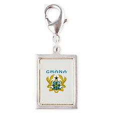 Ghana Coat of arms Silver Portrait Charm