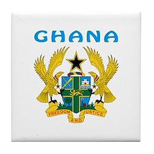 Ghana Coat of arms Tile Coaster