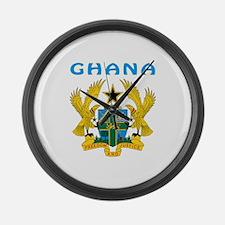 Ghana Coat of arms Large Wall Clock