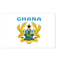 Ghana Coat of arms Postcards (Package of 8)
