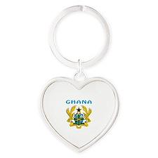 Ghana Coat of arms Heart Keychain