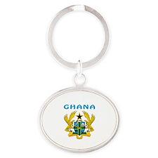 Ghana Coat of arms Oval Keychain