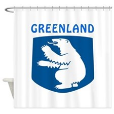 Greenland Coat of arms Shower Curtain